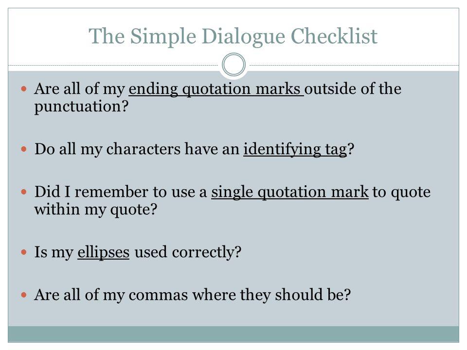 a simple dialogue