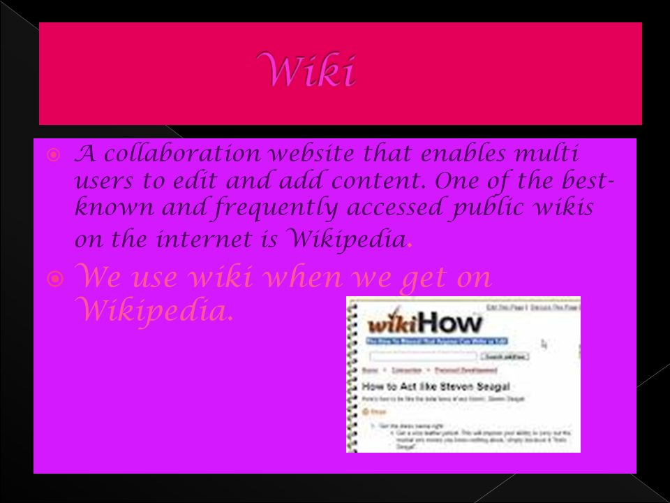  A collaboration website that enables multi users to edit and add content.