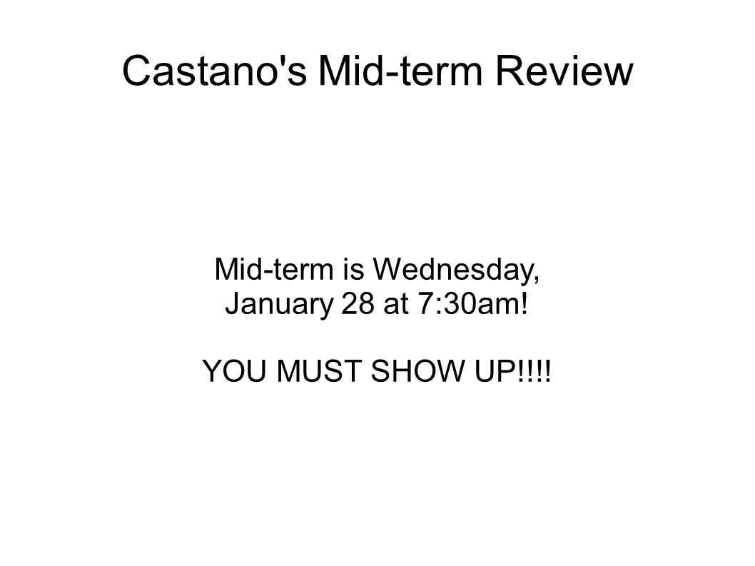 mid term lab review Start studying general chemistry lab midterm review: part one learn vocabulary, terms, and more with flashcards, games, and other study tools.