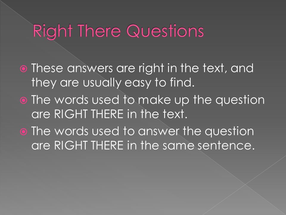 find right answers
