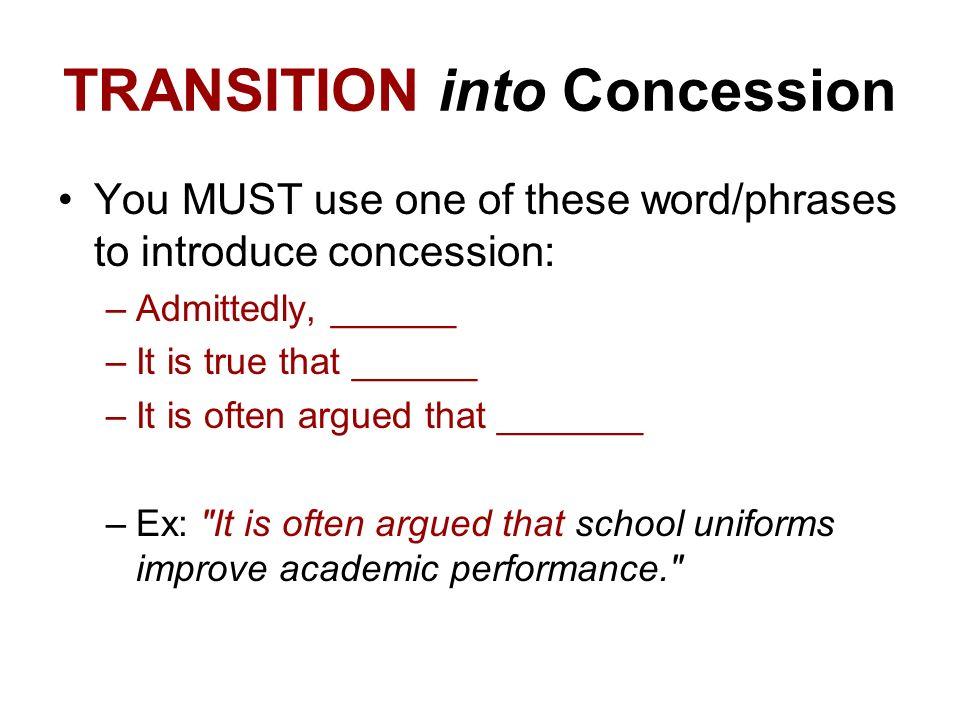 persuasive essays concession