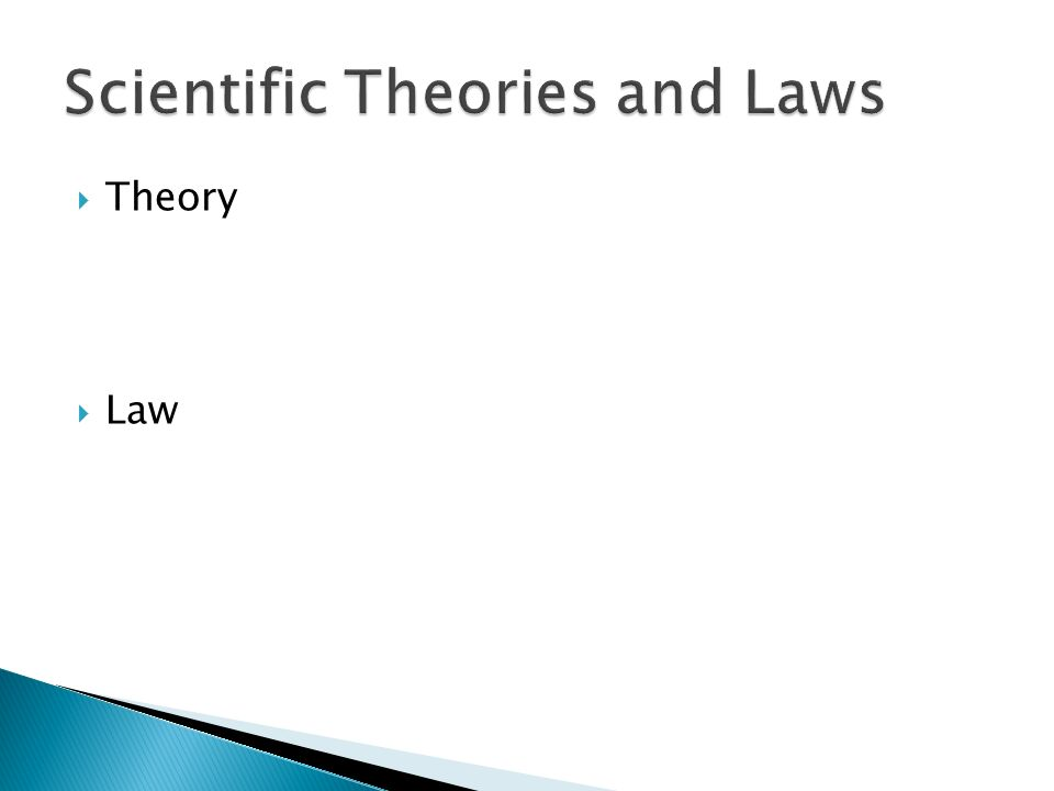  Theory  Law