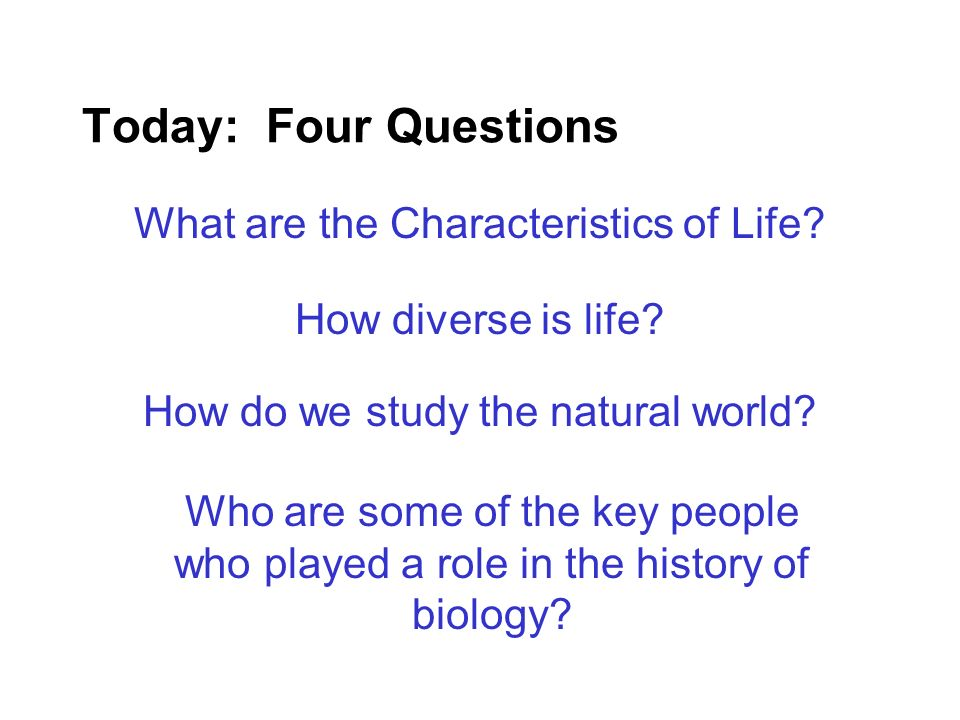 Everyone is a Biologist !