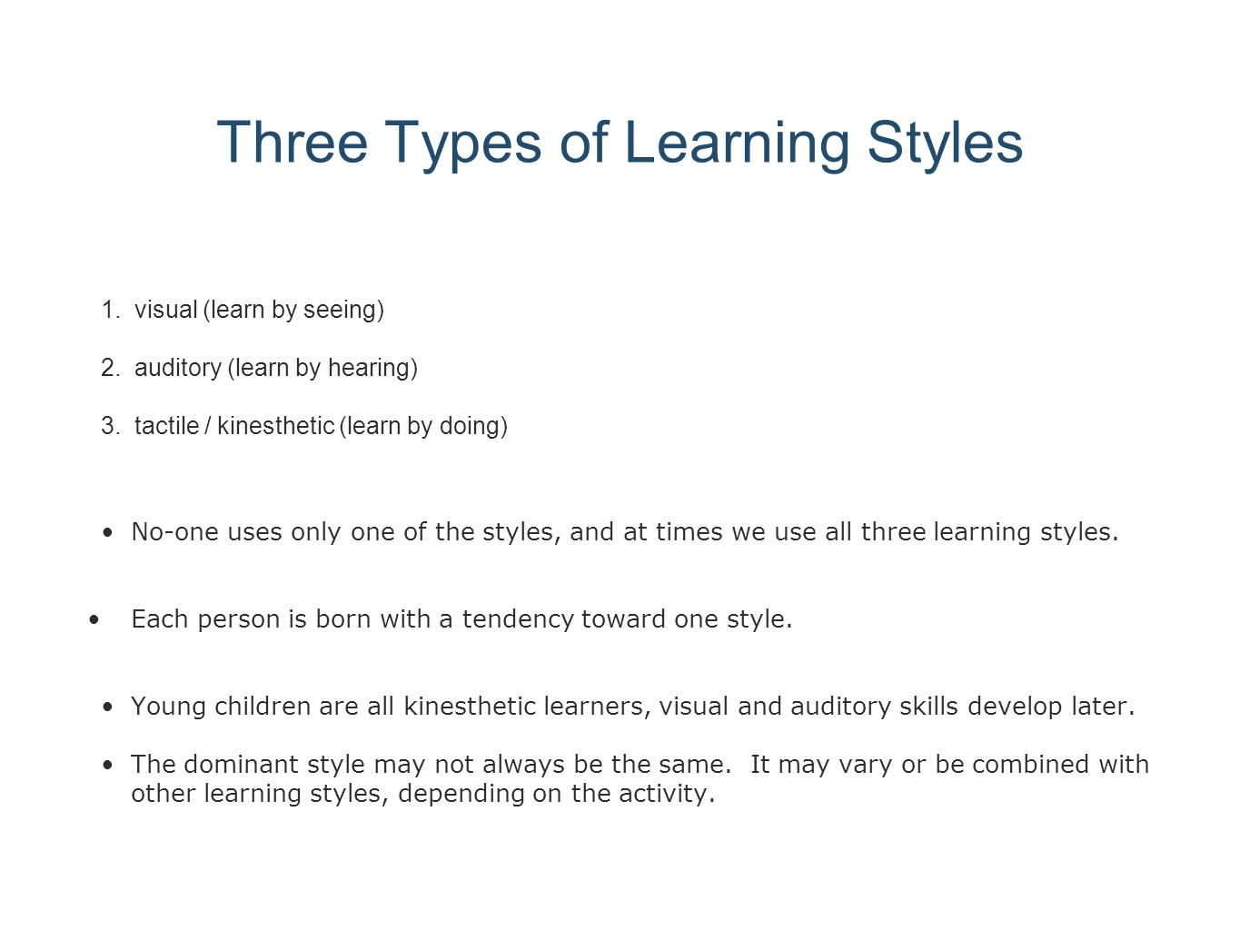 introduction for learning styles essay The learning styles and theories reflective is one of the most styles learning reflective essay learning styles introduction college education is important.