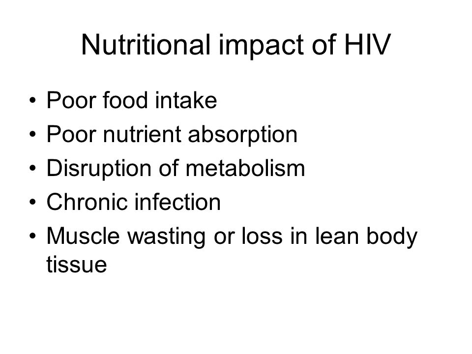 the importance of nutritional change in miss es food intake