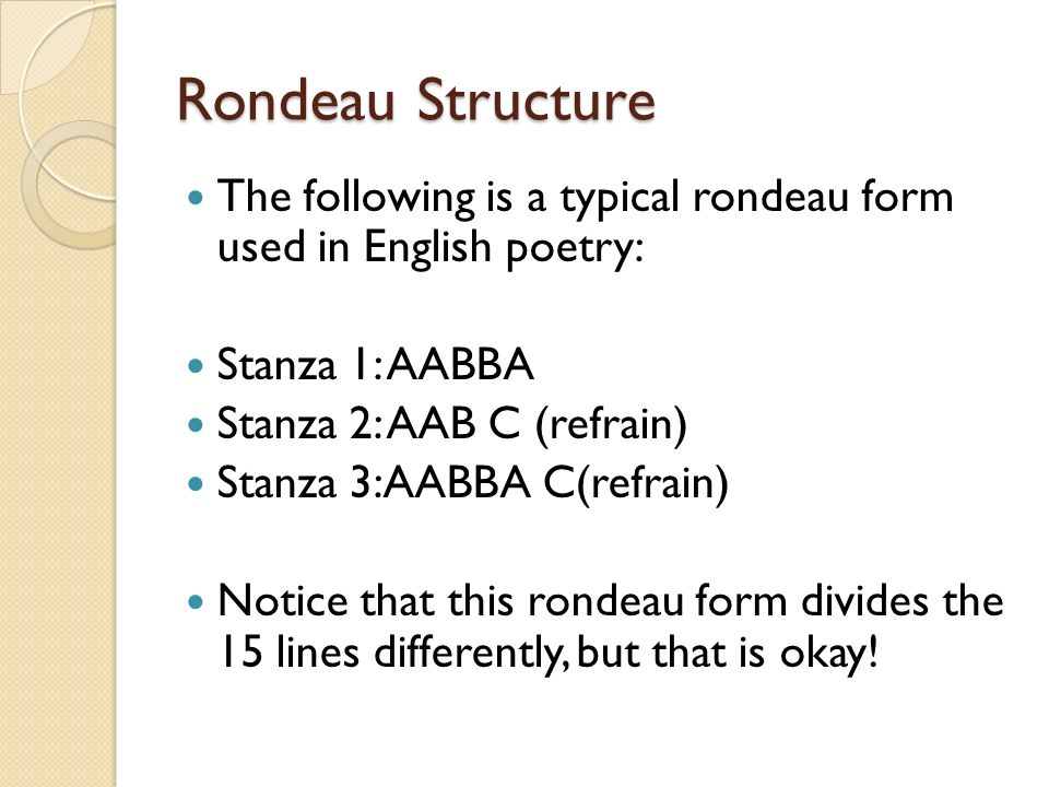 Closed-Form Poetry Sonnets, Sestinas, and Rondeaus. - ppt download