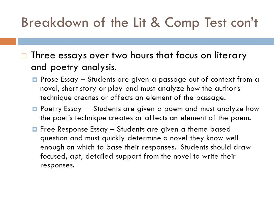 ap literature essay How to prepare for the ap english literature and composition (barron's how to prepare for the ap english literature and composition advanced placement examination.