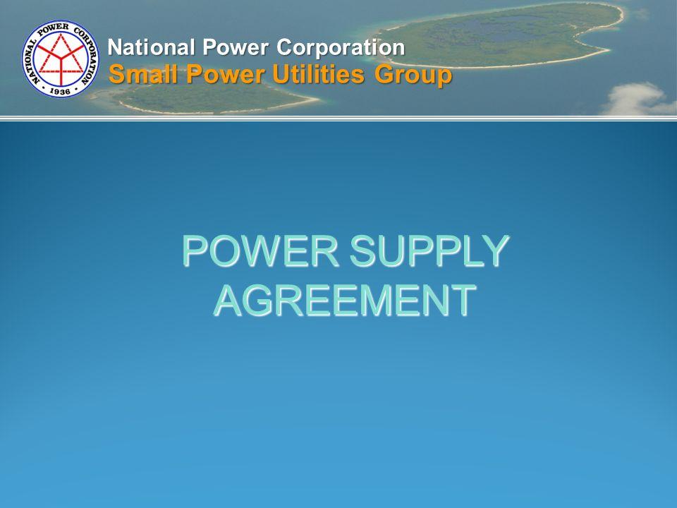 National power corporation small power utilities group power supply 1 national power corporation small power utilities group power supply agreement platinumwayz