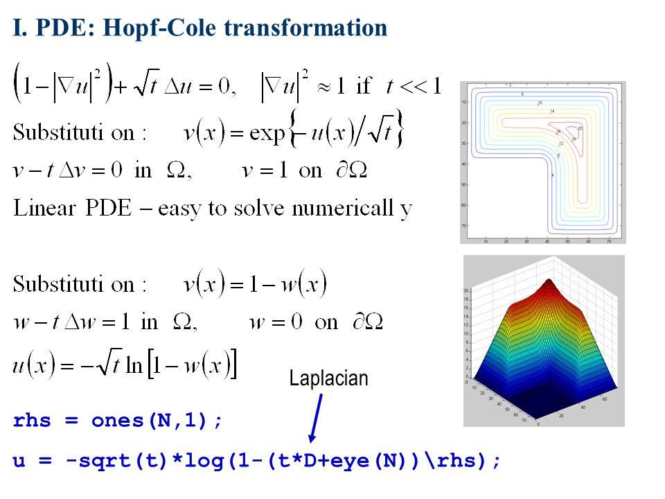 cole hopf transformation