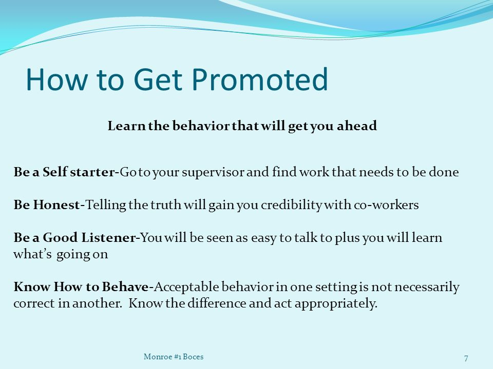 how to get promoted at work