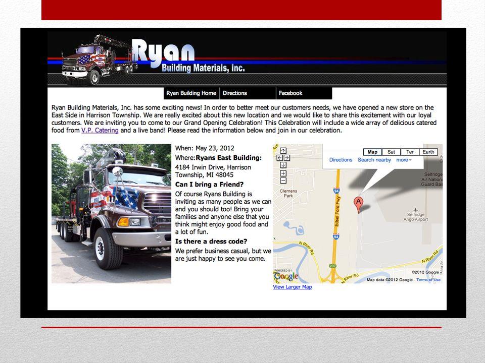 Ryan building materials invitation site stephen anders carrigan 11 sciox Choice Image