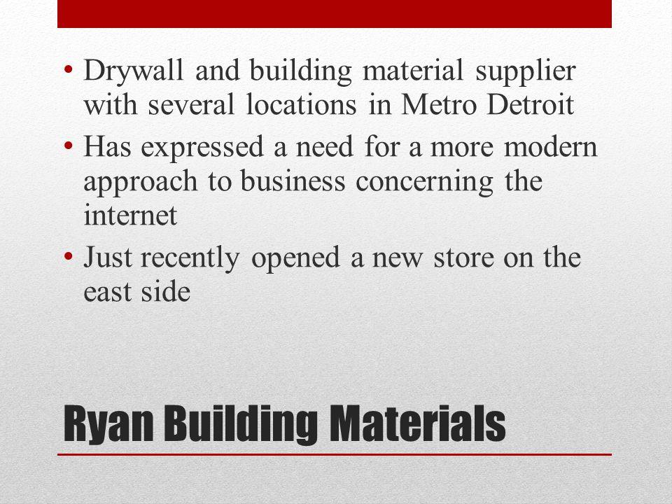 Ryan building materials invitation site stephen anders carrigan 3 ryan building materials drywall and sciox Images