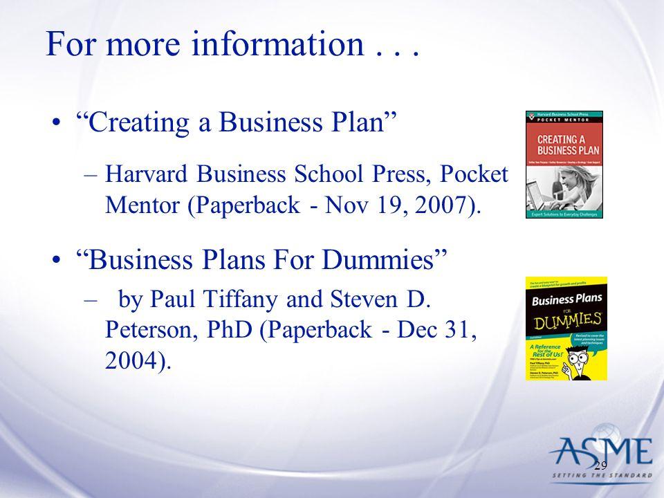 Harvard business school business plan template