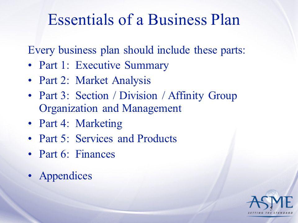 Essentials Of A Business Plan