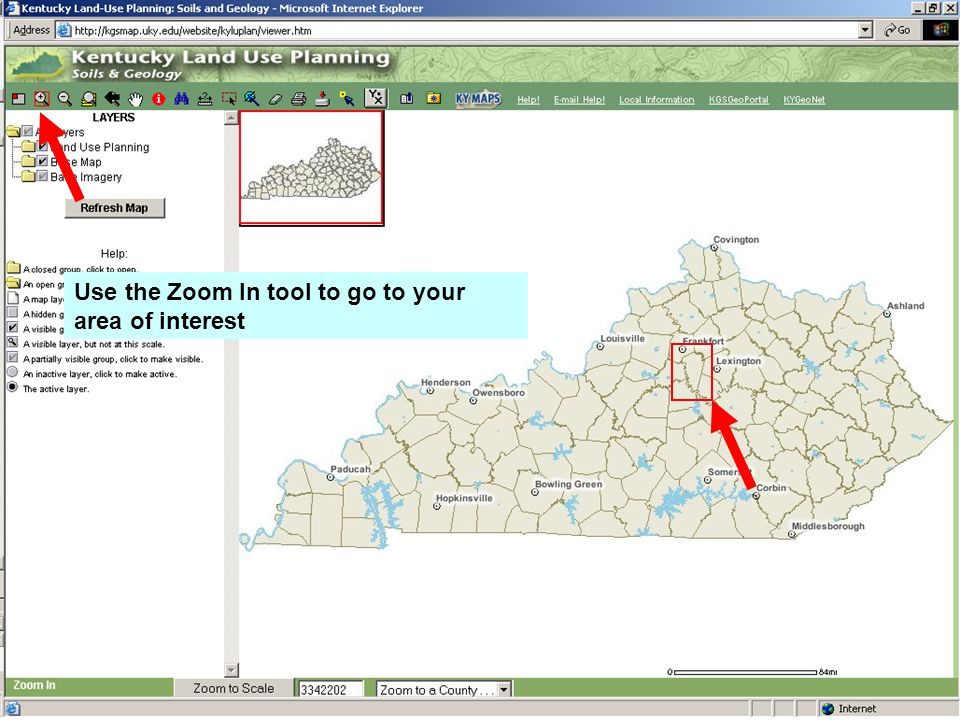 Use the Zoom In tool to go to your area of interest ppt download