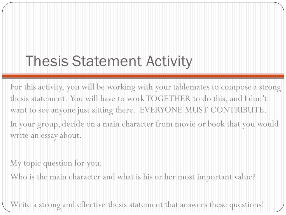 writing effective thesis statements lesson plan Writing Effective Thesis Statements Lesson Plan — 490960