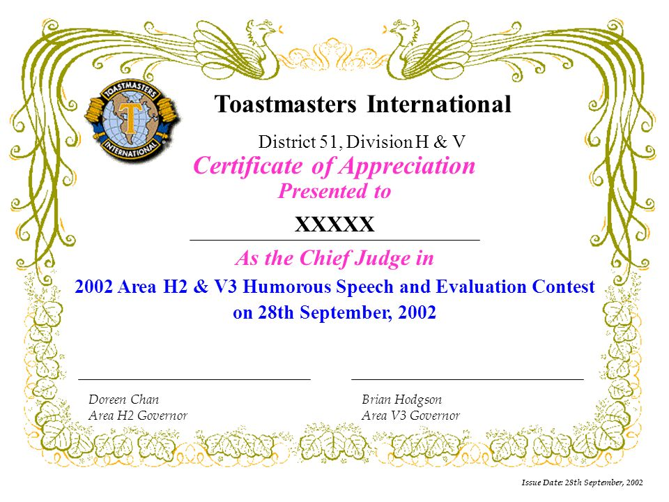 Issue date 28th september 2002 doreen chan area h2 governor 11 issue yadclub Choice Image