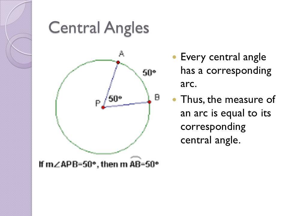 Arcs Angles Chapter 10 Draw Label Central Angle Minor Arc – Central Angle Worksheet