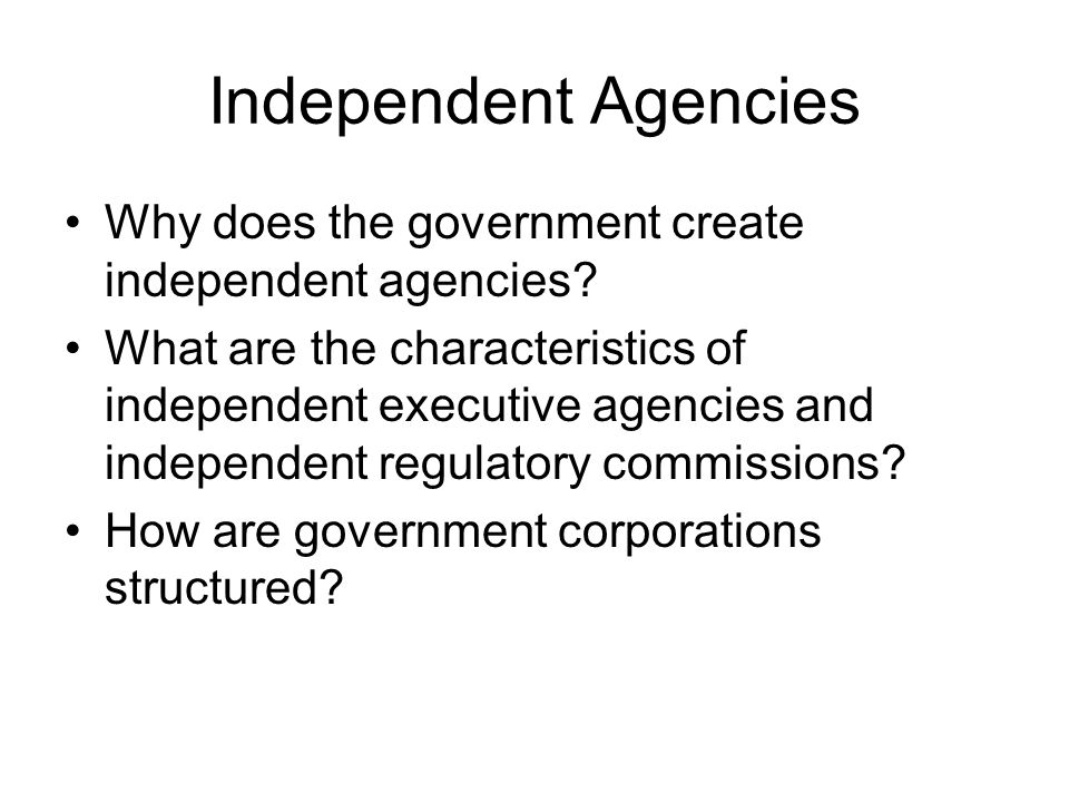 The Federal Bureaucracy What is a bureaucracy? What are the major ...