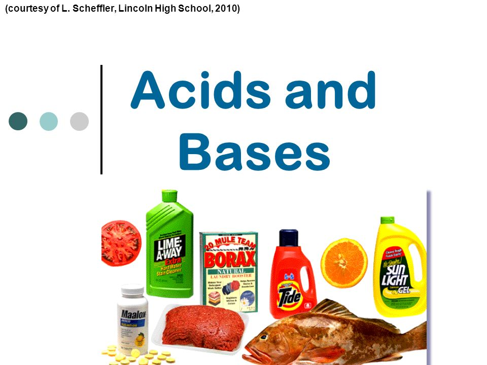 1 Acids and Bases (courtesy of L. Scheffler, Lincoln High School, 2010)