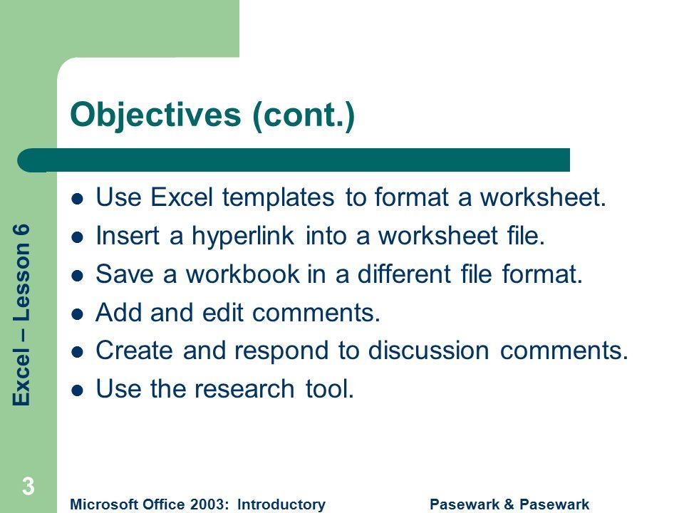 Pasewark Pasewark Microsoft Office 2003 Introductory 1