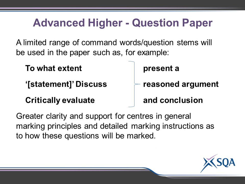 advanced higher english essay questions Leaving cert and junior cert exam paper questions and marking article, essay) (100 marks) paper ii higher and future careers with leaving certificate english.