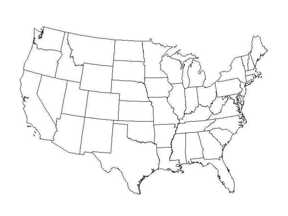 Geography Blog Outline Maps United States - United states of america map