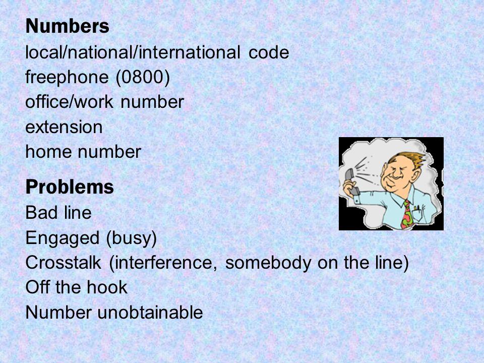 national phone codes