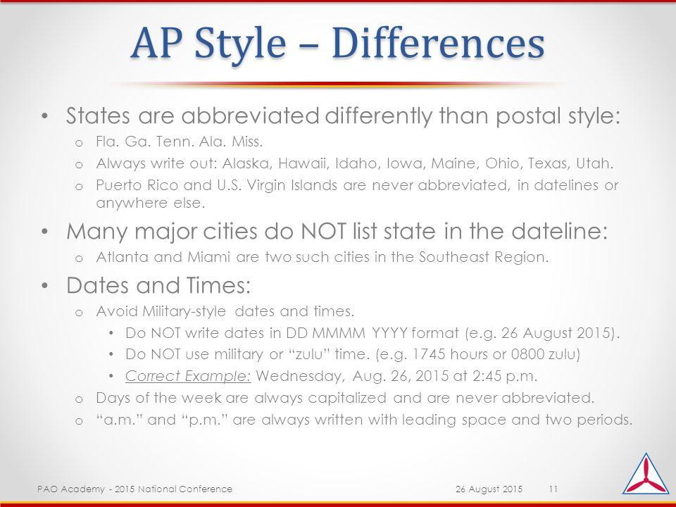 ap style dateline
