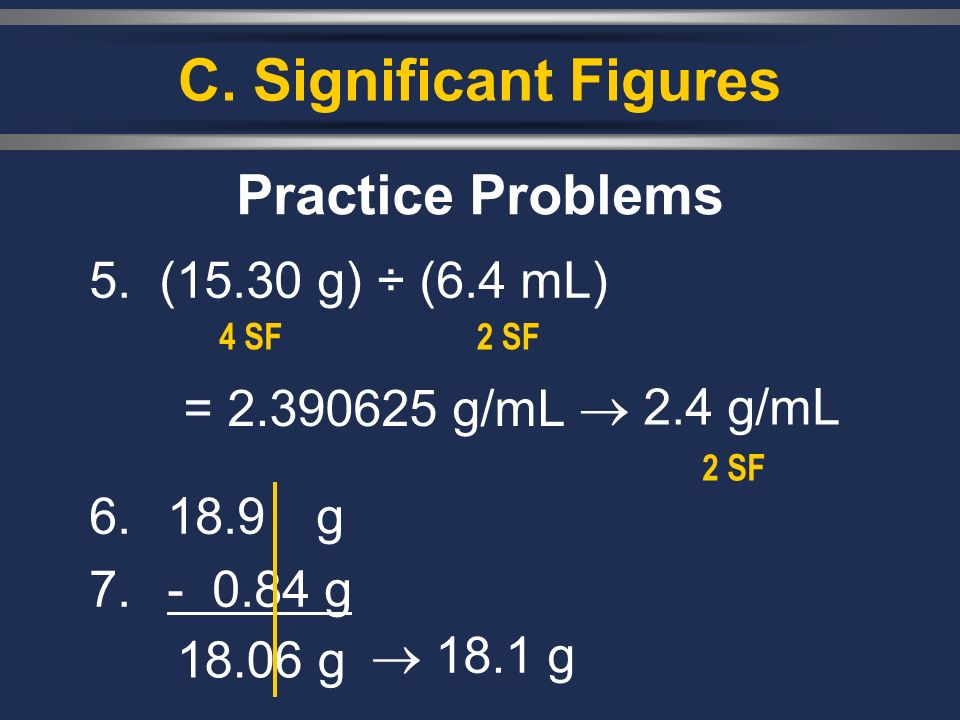 C. Significant Figures 5.