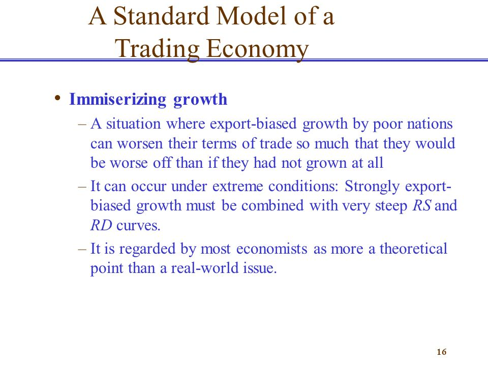 Why does export biased growth reduce the terms of trade and welfare for a country?