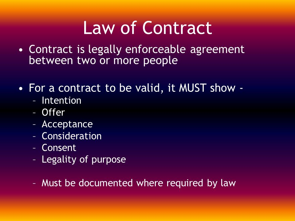 genuine consent for contract to valid