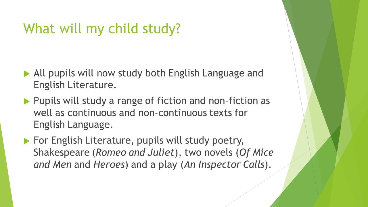 My english language GCSE?