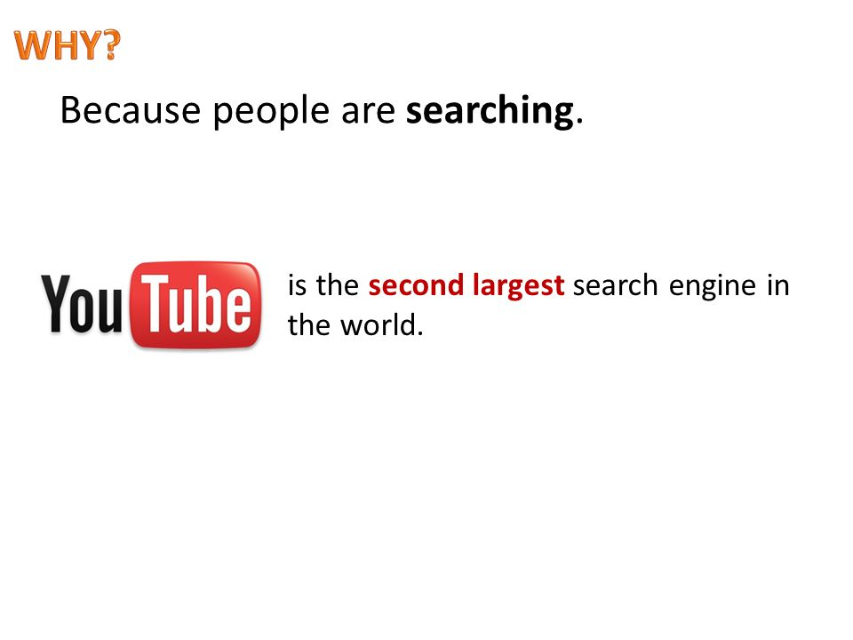 Because people are searching. is the second largest search engine in the world.