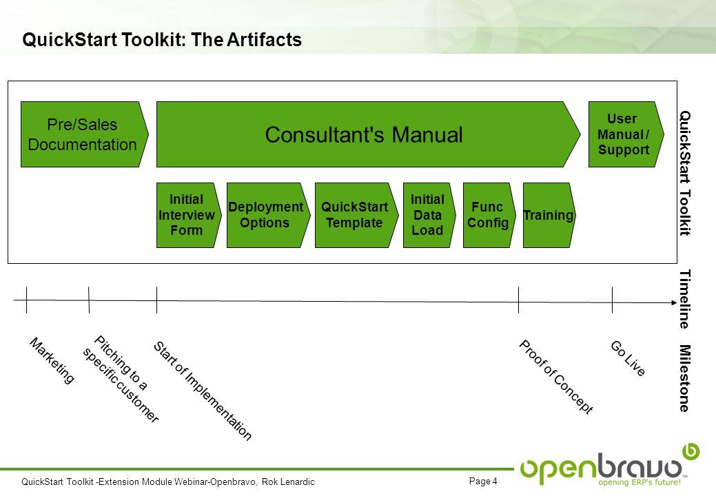 QuickStart Toolkit & Template Extension Module Webinar 10 th of ...