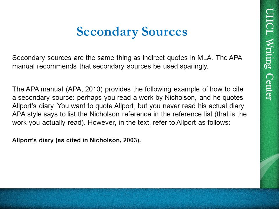 cite sources mla style