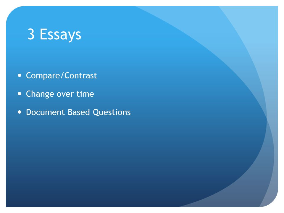 Essays on change