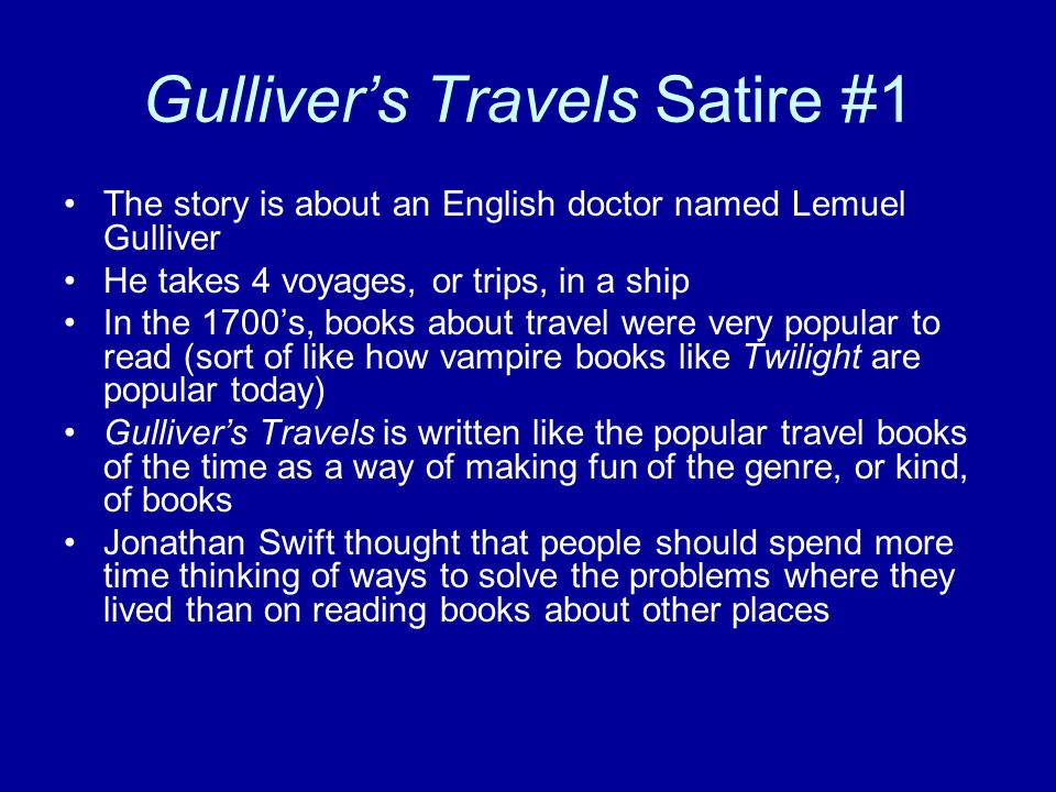 gullivers travels by swift essay