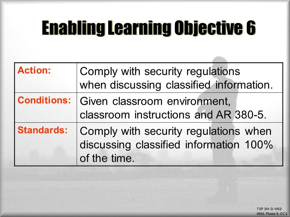 TSP 301-D , Phase II, OCS TSP 301-D , Phase II, OCS Protect ...