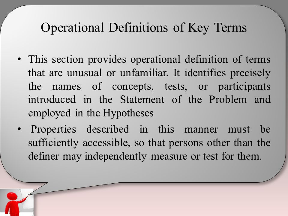 Definition of key terms in dissertation