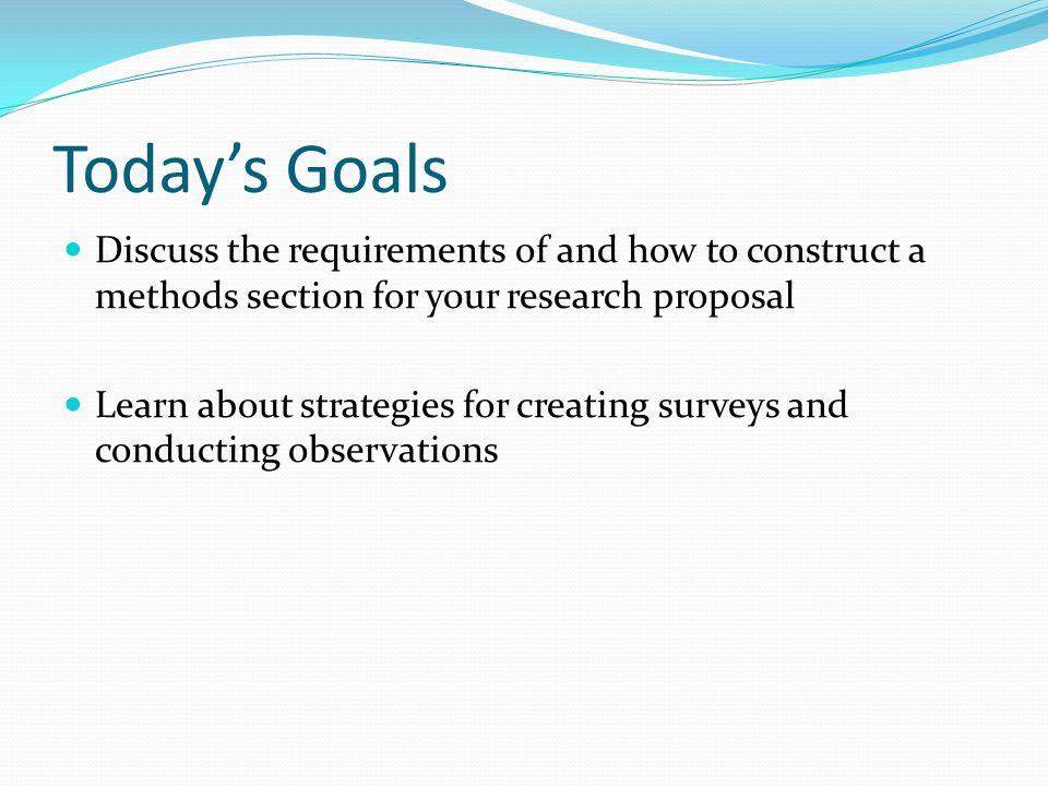 Survey research proposal