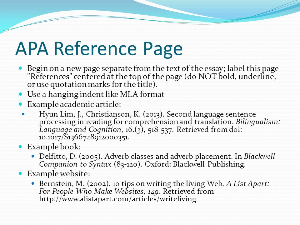 essay page reference Creating a references list 3 common references list entries 4 in-text citations 5 formatting titles of texts f chicago iv using sources.