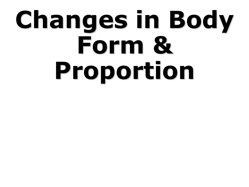 Changes in Body Form & Proportion