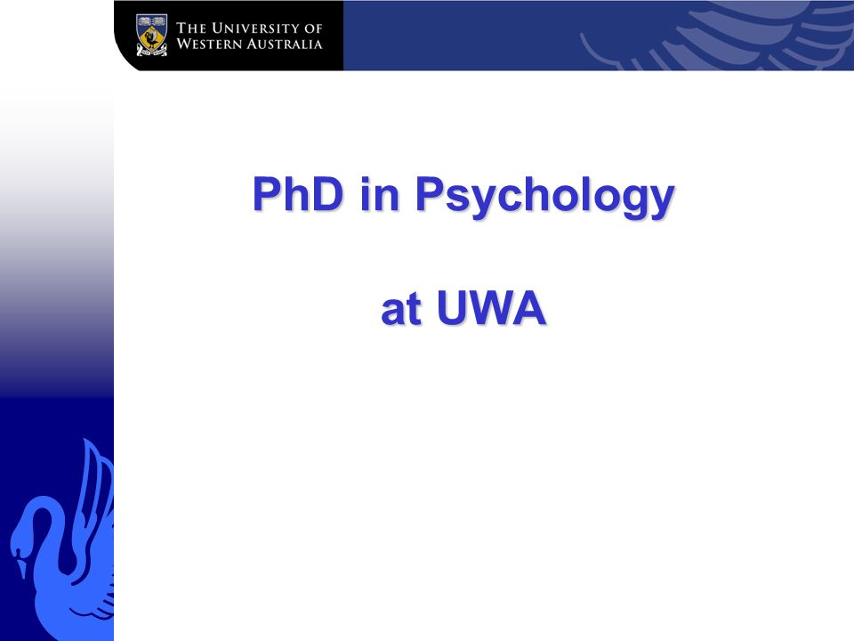 Phd psychology thesis
