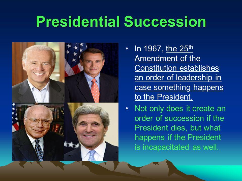 2 Presidential Succession ...