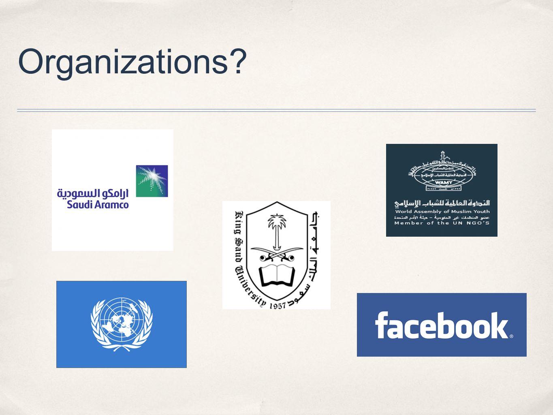 Organizations?