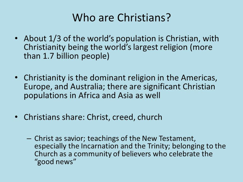 Christian Fundamentalism Who Are Christians About Of The - World's largest religions in order