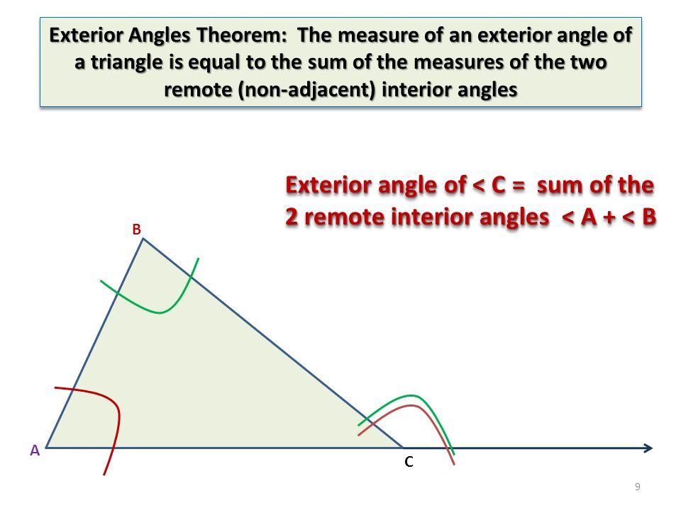 1 2 Definition of Congruent Triangles ABCPQR ABC PQR AP B Q C R