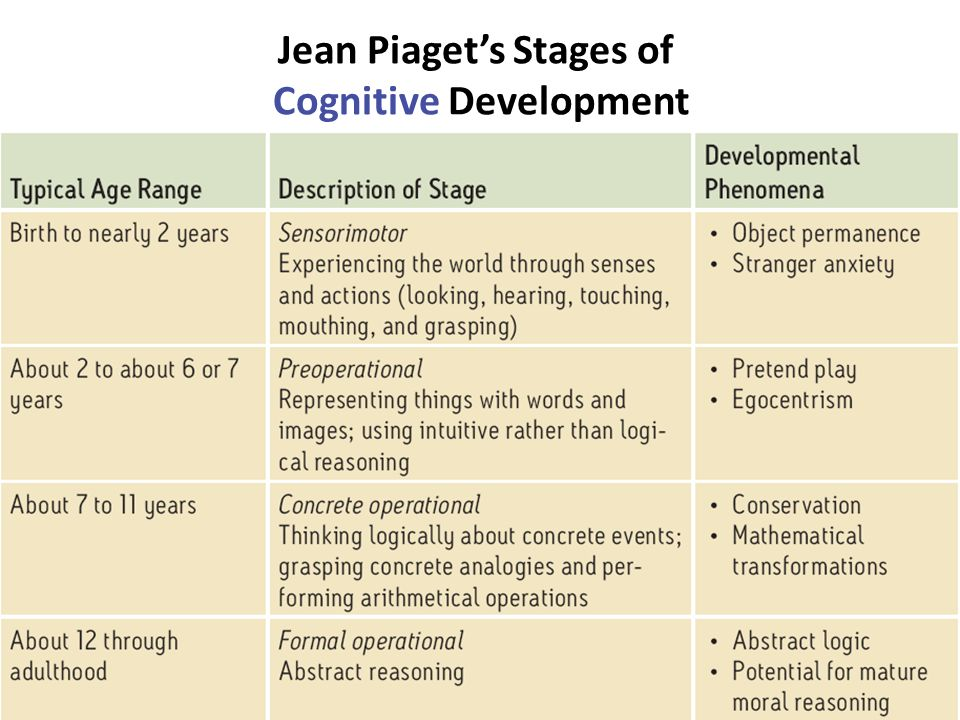 summary of piaget's theories