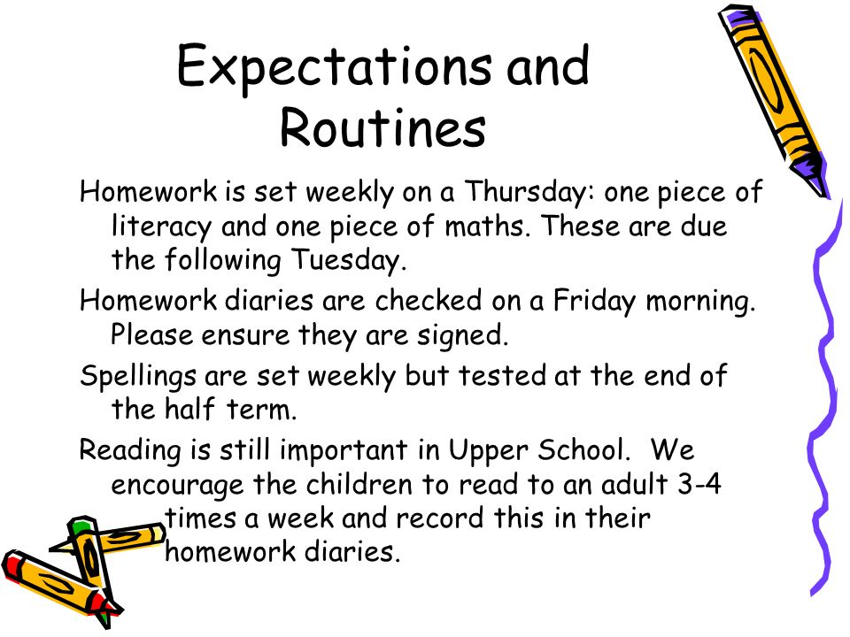 Homework Expectation And Routine - image 3